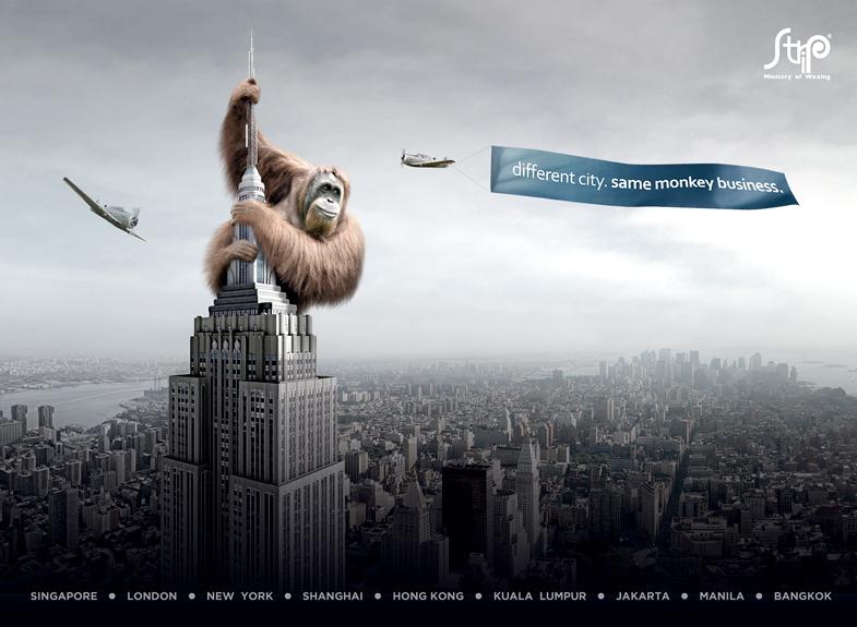 Strip: Different city, same monkey business